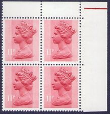 Great Britain Machin 11p phosphor under ink Errors. MNH.