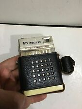 VINTAGE  RADIO  PUBLIC POCKET SIZE BAND MW(-AM) - WITH CASE 1960s