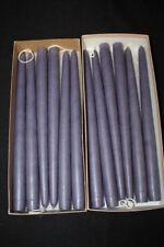 "NIB 1 Dozen 12"" Taper Candle Sticks MOLE HOLLOW Candles Purple LAVENDER Scent"