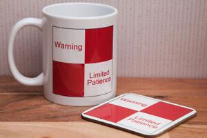 British Rail Limited Patience Sign - Funny Mug Gift.