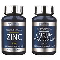 Scitec Nutrition Zinc 100 Tabl + Scitec Nutrition Calcium-Magnesium 100 Tabl.