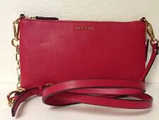 Coach Madison Handbag Kylie Saffiano Leather Crossbody Pink Scarlet 50839 New