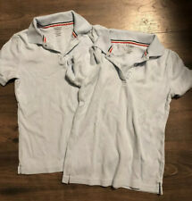 French toast girls uniform Polo Shirts Light Blue Size L (10/12)