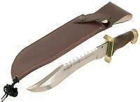 Ranger Hunting Knife 30cm Steel Blade Leather Sheath Bowie Tactical Pigging Bowi