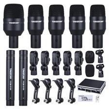 TAKSTAR Pro Drum Set Wired Microphone 7 Pcs Mic Kit 5 Drum 2 Condenser Mics L3C1