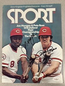 Joe Morgan Signed Sport Magazine 8/1976 JSA Pete Rose Auto Cover Only No Label