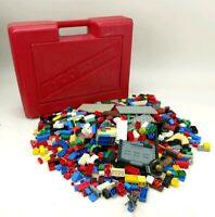Tyco Super Blocks Storage Case Red Vintage With Mega Bloks Building Blocks