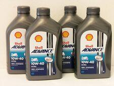 6,-€/l Shell Advance Ultra 4T 10W-40 4 x 1 L vollsynthetisch