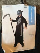 Phantom Messenger Costume Boys Small 4-6 Mask Hooded Cape Halloween Grim Reaper