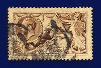 1915 SG407 2s6d Dark Brown De La Rue N64(4) Good Used Cat £300 cqcj