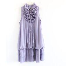 Yumi lavender pastel purple cute romantic ruffle dress M medium lolita euc lilac