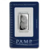 Lingot PAMP 1/2 Once argent pur 999 / PAMP FORTUNA 1/2 Oz Fine Silver 999 Bar