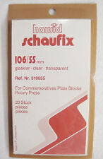 Hawid Schaufix Clear Stamp Mounts 106/55 20 Pieces (m32)