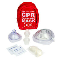 Ever Ready First Aid CPR Rescue Mask Adult Child Pocket Resuscitator Hard Case
