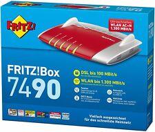 AVM FRITZ!Box 7490 VDSL/ADSL WLAN AC Router Modem 1300 Mbit DECT Media Server