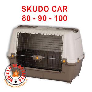 Trasportino per Cani  SKUDO CAR  80 / 90 / 100 - Omologato per viaggi in auto