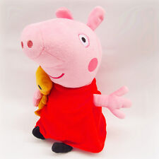 32CM CUTE PEPPA PIG WITH TEDDY BEAR PLUSH KID BABY SOFT TOY STUFFED DOLL