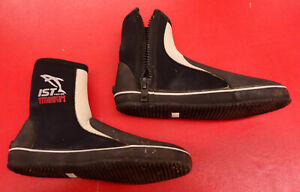 IST Titanium Scuba Diving Snorkeling Booties 6.5mm Wetsuit Boots Size 9 (USED)