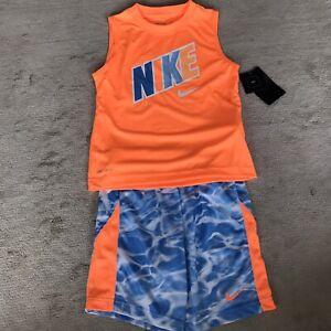 boys nike shorts and t shirt set 6-7