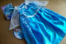 DISNEY PRINCESS ELSA BLUE FANTASY DRESS ++ BONUS TIARA SIZE 6-8