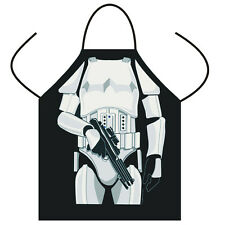 Storm Trooper Kitchen Cooking Chef divertido Hombre BARBACOA BBQ Party Delantal Regalo UK