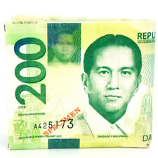 200 Philippine Pesos Currency Design Money Bi-Fold Canvas Wallet