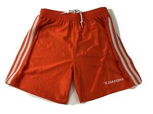 Diadora Youth Size M Soccer Shorts Orange Vintage 90s Futbol