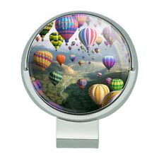 Hot Air Balloons Sky Roads Golf Hat Clip With Magnetic Ball Marker