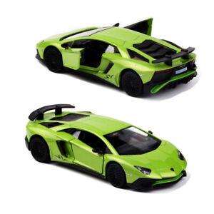 1:36 Lamborghini Aventador LP750-4 SV Car Model Alloy Diecast Toy Vehicle Green
