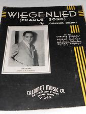 sheet music 1935 Wiegenlied Cradle Song