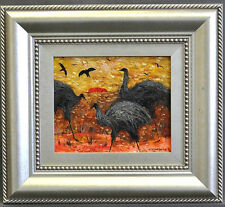 Colleen Parker Oil Painting  Emus on the Run
