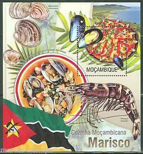 Mozambique 2013 Seafood Souvenir Sheet Mint Nh