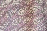 Bagru Silk Scarf Pink Brown Gold Hand Block Print Indian Shawl  Pashmina Style