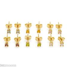 Amethyst,Citrine,Peridot & Cubic zirconia EARRINGS