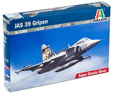 Italeri 1306 1/72 Scale Model Fighter Aircraft Kit Saab JAS-39 Gripen