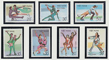 VIETNAM 883/889** PATINAGE ARTISTIQUE, 1988 Vietnam 1979-1985 Skating MNH