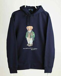 Original Polo Ralph Lauren Hoodie Bear Logo Navy RRP £165 (S M L XL)