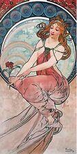 Alphonse Mucha: La Peinture Keilrahmen-Bild Leinwand Klassiker Frau