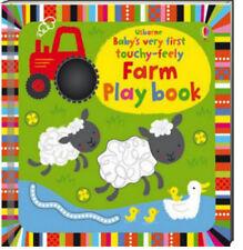 Usborne Baby's Very First Touchy Feely Farm Play Book (bb) Stella Baggott NEW