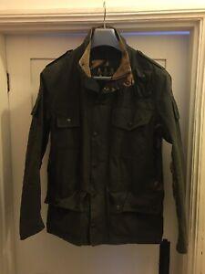 Barbour Cowan Commando Men's Wax Cotton Jacket - Small