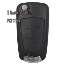 New Remote Car Key 3 Button 433Mhz PCF7946 for Vauxhall Opel Vectra C 2002-2008