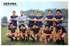 Football Soccer Italian Postcard, A.C Hellas Verona Squad 1975-1976 Season 23F
