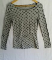 RUE21 Women's T-Shirt Blouse Long Sleeve Gray Cross Large