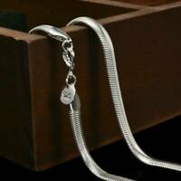 UK 925 Silver Sterling 6mm Solid Snake Chain 16 20 24 Inch Necklace Pendant Gift