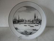 Sehr dekorativer Porzellan Sammelteller Suisse Langenthal / Zürich (A592)XX