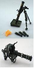 Mortar Tube Rocket AND Gatling Machine Gun 1:8 Scale Military Gi joe Accessory
