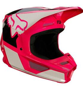 Fox Racing V1 REVN Helmet - Pink/White/Black
