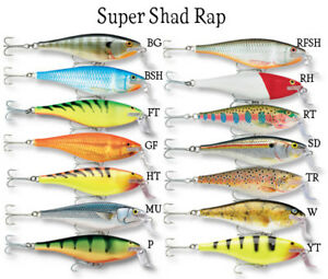 Rapala Super Shad Rap® Fishing Lure 14cm 45g Various Colours Trolling casting