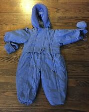 Girls BOUTIQUE LA PETITE By ROTHSCHILD Blue Puffy SNOW SUIT One Piece 24M Roses