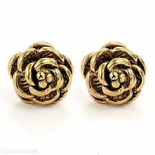 Charm Rose Flower Shape Women's Ladies Stainless Steel Ear Studs Earrings Gift